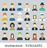 professions vector flat icons.... | Shutterstock .eps vector #515616352