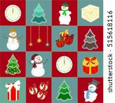 new year background. christmas... | Shutterstock . vector #515618116