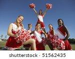 Cheerleading Squad In Formatio...