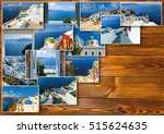 traditional architecture of oia ... | Shutterstock . vector #515624635