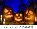 photo pumpkins for halloween.... | Shutterstock . vector #515626192