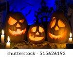 photo pumpkins for halloween.... | Shutterstock . vector #515626192