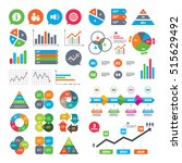 business charts. growth graph.... | Shutterstock .eps vector #515629492
