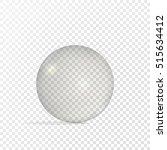 realistic 3d glass sphere ... | Shutterstock .eps vector #515634412