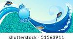 horizontal marine banner   Shutterstock .eps vector #51563911