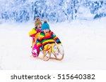 little girl and boy enjoying... | Shutterstock . vector #515640382