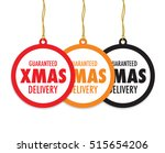 christmas delivery tag label set | Shutterstock .eps vector #515654206