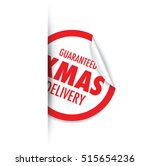 christmas delivery tag label | Shutterstock .eps vector #515654236