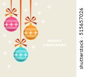 christmas decoration with... | Shutterstock . vector #515657026
