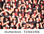 blurred group of university... | Shutterstock . vector #515661406