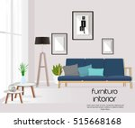 furniture. interior. living... | Shutterstock .eps vector #515668168