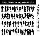 dancing and singing people's... | Shutterstock .eps vector #51567364