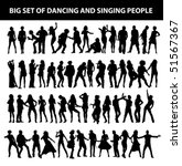 dancing and singing people's... | Shutterstock .eps vector #51567367