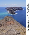 Small photo of Portugal, Madeira Islands, Porto Santo, Ponta da Calheta View towards the Cal Islet.