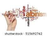 Small photo of Albinism word cloud concept