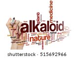 Small photo of Alkaloid word cloud concept