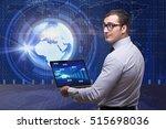 businessman in stock exchange... | Shutterstock . vector #515698036
