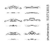 calligraphic frame set | Shutterstock .eps vector #515713015