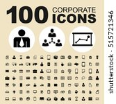 simple set of corporate vector... | Shutterstock .eps vector #515721346