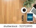 demo  demo preview  ideal  ... | Shutterstock . vector #515723995