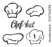chef hat silhouette isolated... | Shutterstock .eps vector #515724598