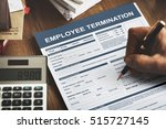 employee termination form... | Shutterstock . vector #515727145
