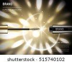 curling mascara ads  3d... | Shutterstock .eps vector #515740102