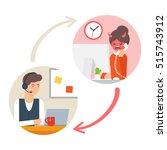 customer support service.... | Shutterstock .eps vector #515743912