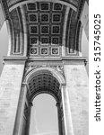 underneath the arc de triomphe... | Shutterstock . vector #515745025