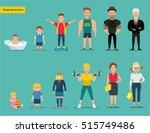 flat cartoon illustration. man... | Shutterstock .eps vector #515749486