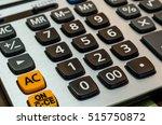 close up black button calculator | Shutterstock . vector #515750872