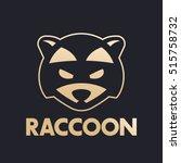 raccoon  logo for national park ... | Shutterstock .eps vector #515758732