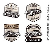 set of retro car  emblems  ...   Shutterstock .eps vector #515772112