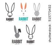 rabbit bunny logo icon symbol... | Shutterstock .eps vector #515773432