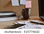 stack of folders and documents... | Shutterstock . vector #515774632