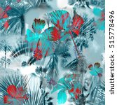 tropical pattern collage... | Shutterstock . vector #515778496