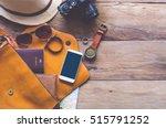 travel accessories costumes....   Shutterstock . vector #515791252