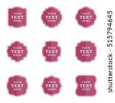 vector set blank vintage labels ...   Shutterstock .eps vector #515794645