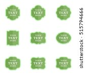 vector set blank vintage labels ... | Shutterstock .eps vector #515794666