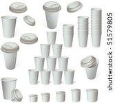 paper coffee ice cream cup set... | Shutterstock .eps vector #51579805