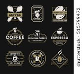 coffee shop logo vintage... | Shutterstock .eps vector #515799472