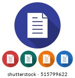 round icon of document. flat... | Shutterstock .eps vector #515799622