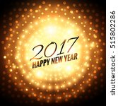 2017 new year party celebration ... | Shutterstock .eps vector #515802286