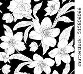 hellebore floral foliage... | Shutterstock .eps vector #515806066