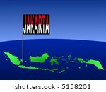 map of indonesia with position... | Shutterstock .eps vector #5158201