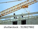 construction of a new high rise ... | Shutterstock . vector #515827882