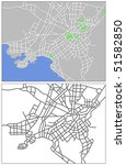 vector map of athens | Shutterstock .eps vector #51582850