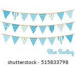 blue bunting  design elements... | Shutterstock .eps vector #515833798