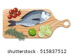 dorado. ingredients and spices... | Shutterstock .eps vector #515837512