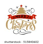 hand sketched christmas... | Shutterstock .eps vector #515840602